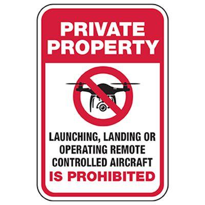 Private Property - Remote Control Drone Prohibited