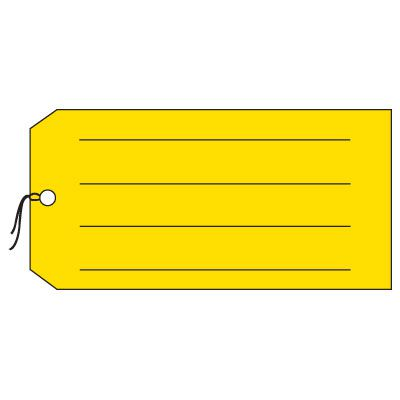 Production Control Tags - Blank with lines, Yellow