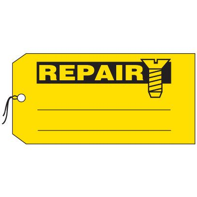 Production Control Tags - Repair (with screw graphic)