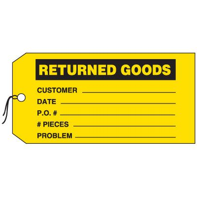 Production Control Tags - Returned Goods