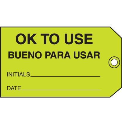 Ok To Use Bueno Para Usar Maintenance Tags