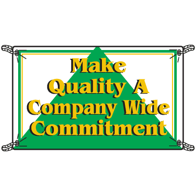 Make Quality A Company Commitment Productivity Banners