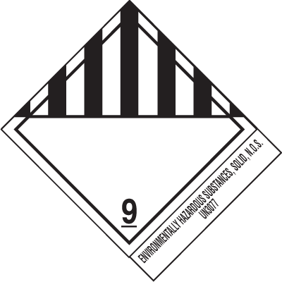 Environmentally Hazardous UN3077 DOT Shipping Labels HSN1500R