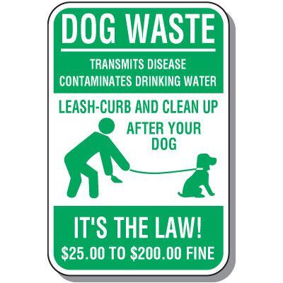 Property Protection Signs - Dog Waste Clean Up After Your Dog