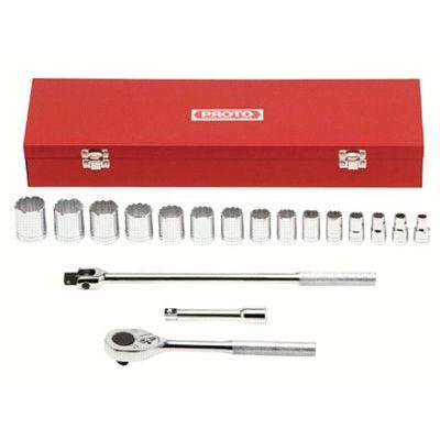 Proto® - Torqueplus™ 12-Point 1/2 Drive Tool Socket Sets 54120