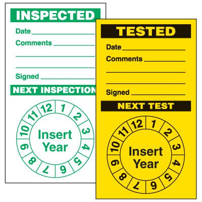 Semi-Custom Punch-Out Inspection Labels