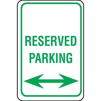 Plastic Reserved Parking Sign - Reserved Parking