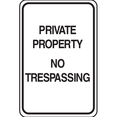 Plastic No Trespassing Sign - Private Property No Trespassing