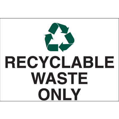 Recycling Labels - Recyclable Waste Only