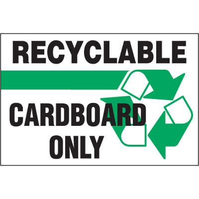 Recycling Labels - Recyclable Cardboard Only
