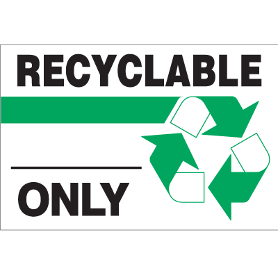 Recycling Labels - Recyclable Only