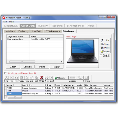 RedBeam Inventory Control Software