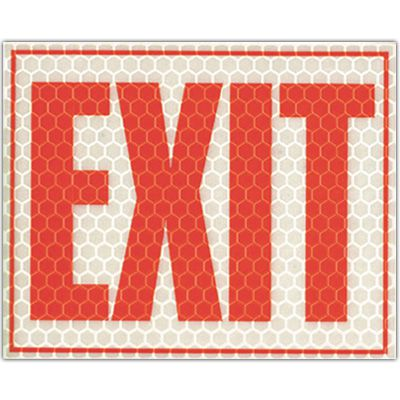 Cyalume Reflective Glow Exit Sign 9-30070