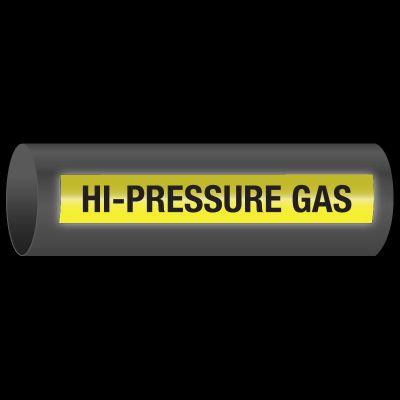 Reflective Opti-Code™ Self-Adhesive Pipe Markers - Hi-Pressure Gas