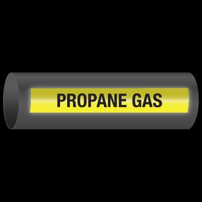 Reflective Opti-Code™ Self-Adhesive Pipe Markers - Propane Gas