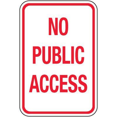 Reflective Parking Lot Signs - No Public Access