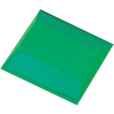 Reflective Pavement Markers - 2-Way Green Reflector