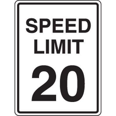20 MPH Speed Limit Signs