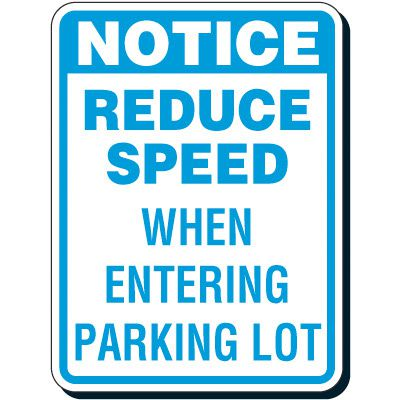 Reflective Traffic Reminder Signs - Reduce Speed When Entering
