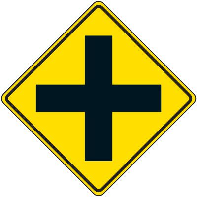 Reflective Warning Signs - 4-Way Traffic Symbol