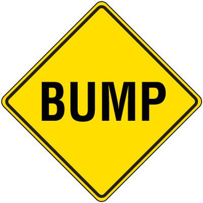 Reflective Warning Signs - Bump