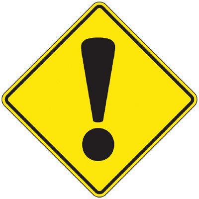 Reflective Warning Signs - Danger (Symbol)