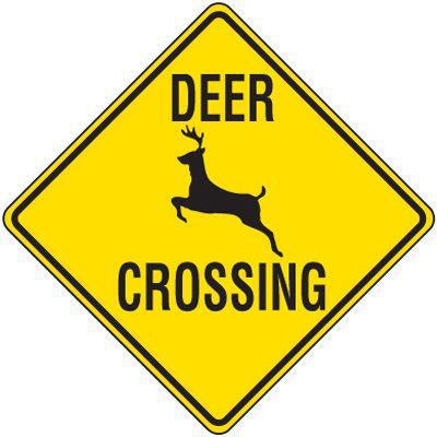 Reflective Warning Signs - Deer Crossing