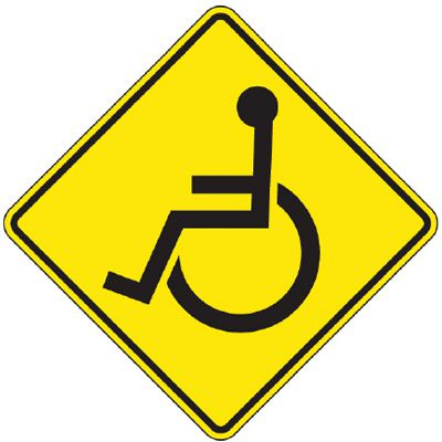 Reflective Warning Signs - Handicapped (Symbol)