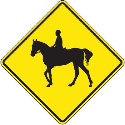 Reflective Warning Signs - Horse Rider (Symbol)