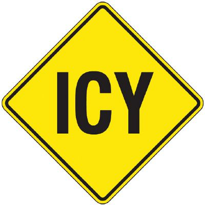 Reflective Warning Signs - Icy