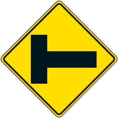 Reflective Warning Signs - Intersection Traffic Symbol