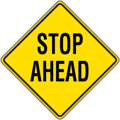 Reflective Warning Signs - Stop Ahead