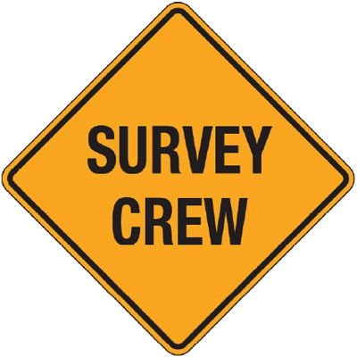 Reflective Warning Signs - Survey Crew