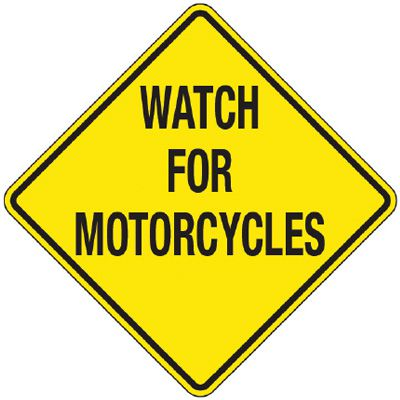 Reflective Warning Signs - Watch For Motorcycles