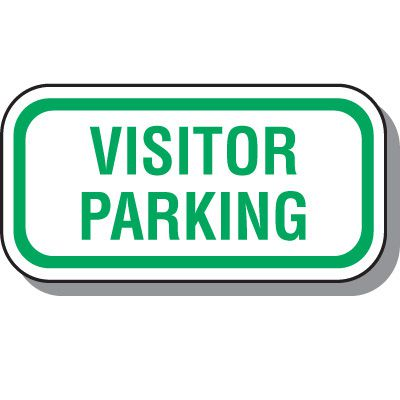 Reserved Parking Signs - Visitor Parking