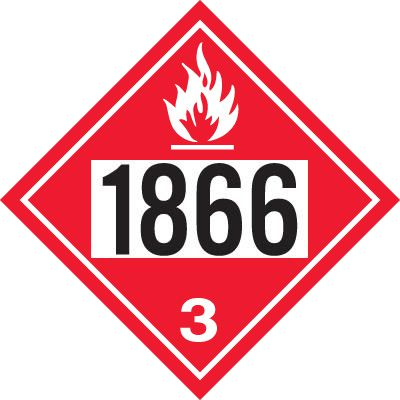 1866 Resin Solution - DOT Placards