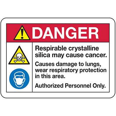 Respirable Silica Signs