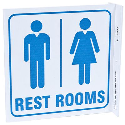 Rest Rooms L-Style Sign