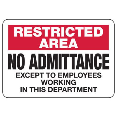Restricted Authorized Personnel Only - Industrial Restricted Signs