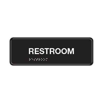 Restroom - ADA Braille Tactile Signs
