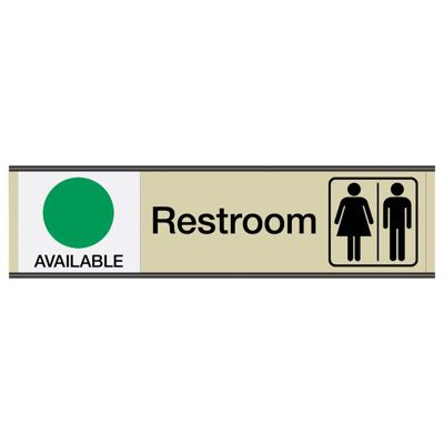 Restroom Available/In Use - Engraved Restroom Sliders