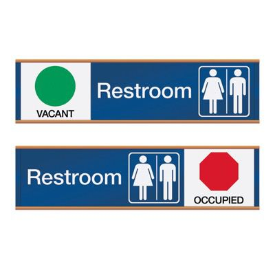Restroom Vacant/Occupied - Engraved Restroom Sliders