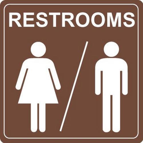 Interior Décor Restroom Signs