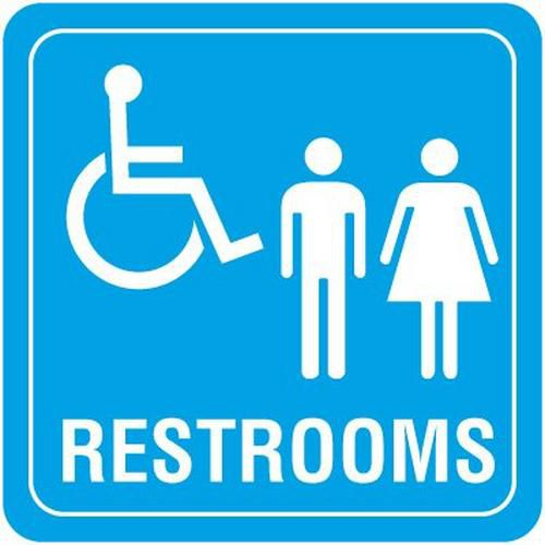 Accessible Restroom Decor Signs