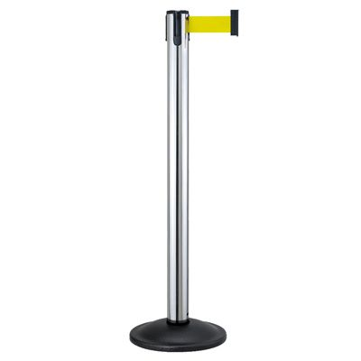 Beltrac® Contempo Retractable Belt Stanchion - Chrome Post