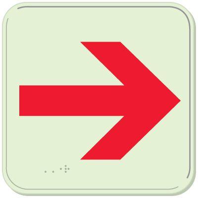 Right Arrow - Glo-Brite® ADA Braille Signs