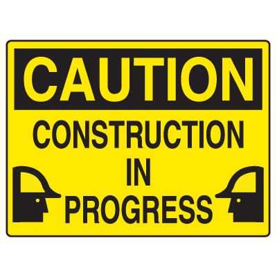 Road Construction Signs - Caution Construction In Progress