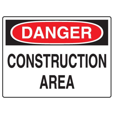 Road Construction Signs - Danger Construction Area