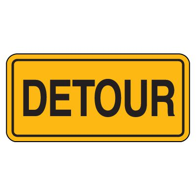 Road Construction Signs - Detour