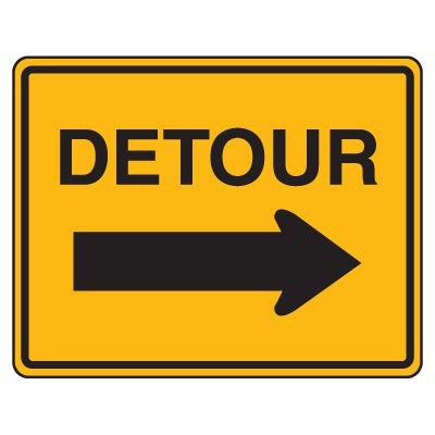 Image result for detour sign